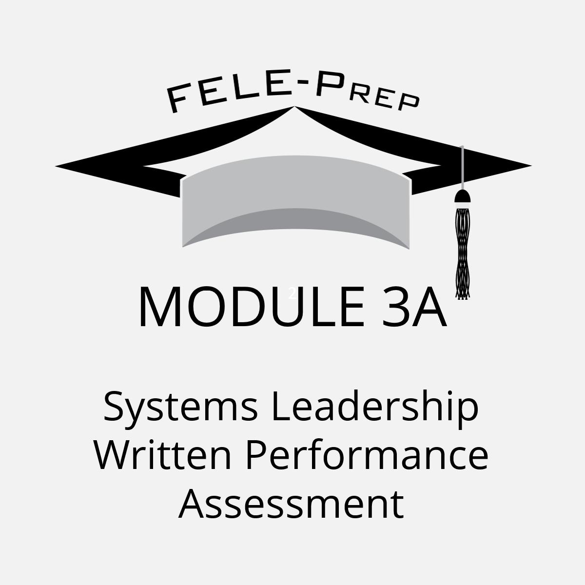 Module 3A - Systems Leadership Written Performance Assessment