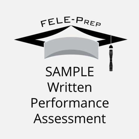 sample written performance assessment